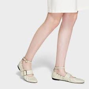 Charles & Keith ballerina flats buckle ankle strap